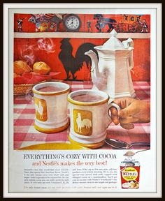 1960 Nestle Sweet Milk Cocoa Advertisement. by vintageadsnprints