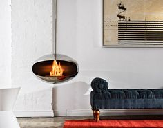 cocoon fireplace. yes please!