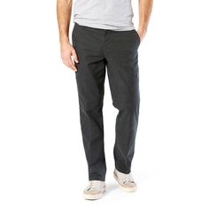 Men's Dockers® Utility Cargo Straight Fit Canvas Pants D2, Size: 32X32, Dark Grey