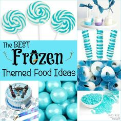 Rock your kids Frozen themed party with some of these awesome Frozen themed food ideas! Love the crystal candy! perfect for Elsa!