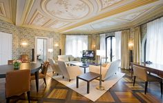 The Dolder Grand - Zurich Hotels - Zurich, Switzerland - Forbes Travel Guide City Resort, Banquet Facilities, Suite Life, Indoor Swimming Pools, Types Of Rooms, Common Area, Grand Hotel, Luxury Living, Hotels And Resorts