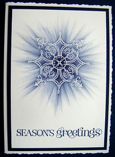 Sponged Emboss Resist Technique with Serene Snowflakes by Stampin' Up