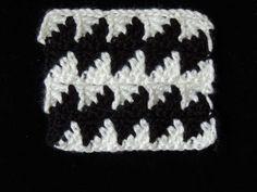 Un nuevo Punto en Crochet Fantasia en Blanco y Negro, el # 3
