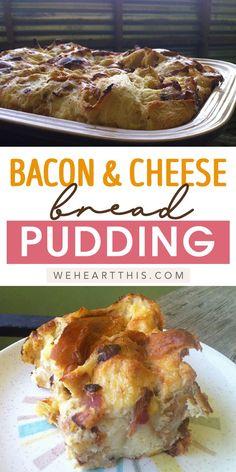 Breakfast Bread Puddings, Easy Breakfast Casserole Recipes, Savory Bread Puddings, Savory Breakfast, Breakfast Items, Pudding Recipes, Bread Recipes, Cooking Recipes, Rice Recipes