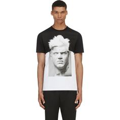 Neil Barrett Black & White Punk Marble T-Shirt