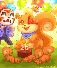 For Squirrel's birthday! The dead squirrels are because of what went on during his birthday stream xD Dead Squirrel, Guardian Of The Moon, Bbs Squad, H20 Delirious, Vanoss Crew, Banana Bus Squad, Youtube Gamer, Youtubers, Chibi