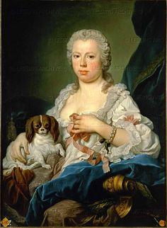 Amigoni,Jacopo.Dona Barbara de Braganza (1711-1758),wife of King   Ferdinand VI of Spain.   Canvas