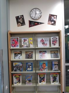 For our January #Nonfiction #Display, we have our #hockey books!  #Blackhawks #ChicagoWolves #Library