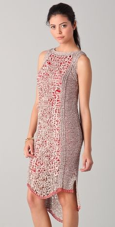 Rachel Roy Techno Tape Knit Dress in Pink (rose) - Lyst