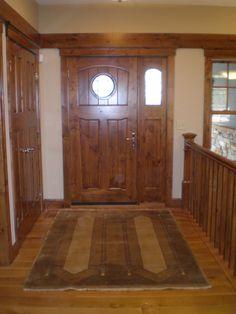 "Prairie style rug  ~ Our prairie rug ""Woodlawn"" in a custom arts & crafts home built by American Prairie Homes in Minnesota."