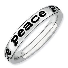 Peace Stackable Ring - Item QSK100 | REEDS Jewelers