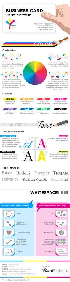 Business Card Design Psychology   Tips for designing business cards   Small business design advice