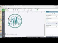 How to Make a Monogram Logo using Cricut Design Space - YouTube