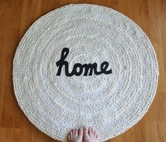 Love these custom made rugs from recycled clothing and rags, etc. From Etsy.