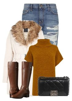 """Untitled #11552"" by nanette-253 ❤ liked on Polyvore featuring Current/Elliott, Warehouse, Bandolino and Chanel"