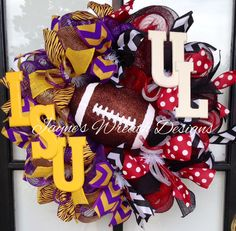 LSU / UL Football Wreath