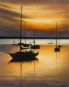 Golden Magic (2005) Igor Medvedev http://www.parkwestgallery.com/artwork-detail?ArtID=147885 #art #igormedvedev #parkwestgallery #seaside