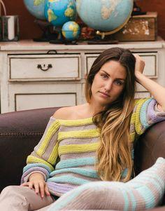 Book Beginners 3 Spring / Summer | 71: Woman Sweater | Light beige / Yellow / Very light green / Light lilac