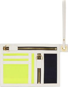Kenzo Kenzo Canvas & Leather Thin Wallet