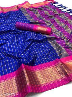 Sarees beautiful aura cotton silk saree Saree Fabric: Cotton Silk Blouse: Running Blouse Blouse Fabric: Cotton Silk Multipack: Single Sizes:  Free Size Country of Origin: India Sizes Available: Free Size   Catalog Rating: ★4 (470)  Catalog Name: Myra Fashionable Sarees CatalogID_1198620 C74-SC1004 Code: 484-7452973-6231