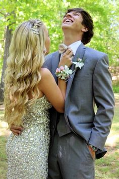 prom picture, love the hair and the dress