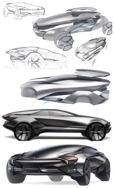 kinda a long post but I figure its been awhile. Most recent project work brought to you by VW- electric 4 door lifted GT. Car Design Sketch, Car Sketch, Design Autos, Photoshop Rendering, Conceptual Drawing, Industrial Design Sketch, Cyberpunk, Futuristic Cars, Car Drawings