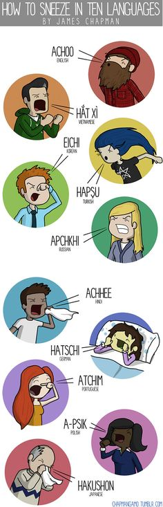 Sneezing in 10 languages // funny pictures - funny photos - funny images - funny pics - funny quotes - #lol #humor #funnypictures
