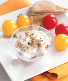 Creamy Feta-Walnut Dip | Dinner's at eight, but you just can't wait. A healthy snack will tide you over.