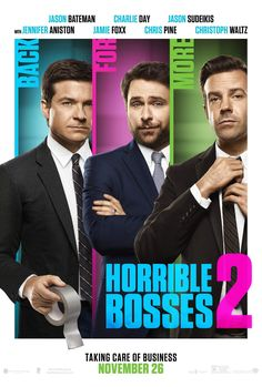 Horrible Bosses 2 - New Movie Trailer and Poster Featuring Jason Bateman Making it Rain