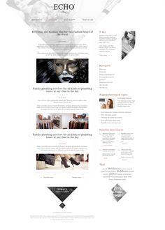 Echo Fashion Blog #webdesign