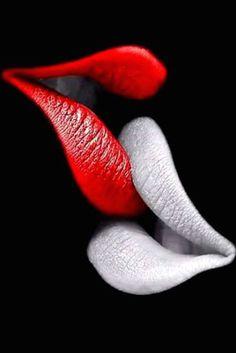 Pin by kwesi on black n wihte in 2019 siyah kadın sanat, tezhip, resimler Black Women Art, Black Art, Lipstick Art, Beautiful Lips, Black White Red, Erotic Art, Love Photography, Belle Photo, Red Lips