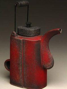 Texas Teapot Tournament_18 Hands Gallery_Untitled_Red Teapot Todd Burns