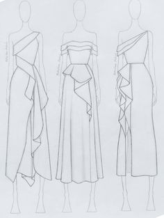 Fashion Illustration Tutorial, Fashion Drawing Tutorial, Fashion Model Drawing, Fashion Figure Drawing, Fashion Drawing Dresses, Fashion Illustration Dresses, Dress Design Drawing, Dress Design Sketches, Fashion Design Sketchbook