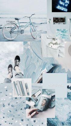 ideas for pastel blue aesthetic wallpaper iphone Blue Aesthetic Pastel, Aesthetic Pastel Wallpaper, Aesthetic Colors, Aesthetic Backgrounds, Aesthetic Wallpapers, Aesthetic Collage, Blue Aesthetic Tumblr, Fashion Wallpaper, Trendy Wallpaper