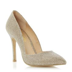 Head Over Heels Ladies BODENE - Pointed Toe High Heeled Court Shoe - gold | Dune Shoes Online