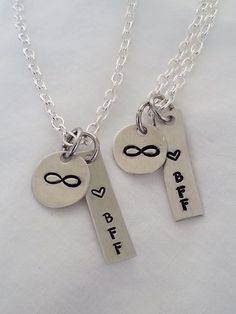 Best Friends Forever hand stamped jewelry by TempleStamping. I want these for me and my bffs!
