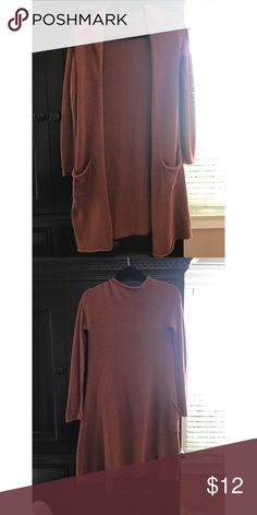 Urban Outfitters Open Cardigan Sparkle & Fade by UO long, burnt orange cardigan   Gently worn & has no flaws   No Trades   Urban Outfitters Sweaters Cardigans