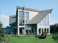 modern: Haus mit #Doppelpultdach
