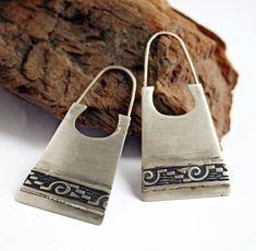 Tribal Earrings in Sterling Silver