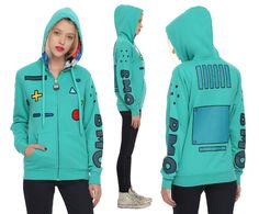 Adventure Time BMO Zip-Up Hoodie From Hot Topic