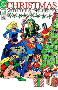 Christmas with the Super-Heroes 1 cover art by John Byrne #comics #xmas