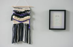 Weaving / Woven Wall Hanging / Big V / Wall Art by ROVINGTEXTILES on Etsy