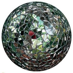 Cover a bowling ball with mirrors to make a unique gazing ball for your garden.