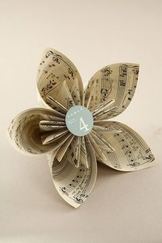 DYI paper flower book pages   Book Page Kusudama Flower