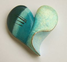 Polymer Clay Planet: Heart by MANDOOLINI