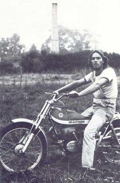 Dungareed David with bike :D