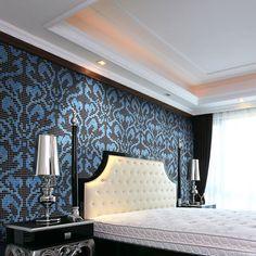 Vh JY-P-D08 синий и черный стеклянная мозаика плитка для стены спальни щитка-изображение-Мозаика-ID товара::1597749429-russian.alibaba.com