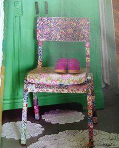 All Wrapped Up Chair from Granny chic book.  Instructions also available in Reloved magazine.