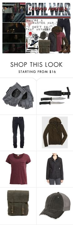 """Bucky Barnes -- Civil War"" by kit-catt-kate ❤ liked on Polyvore featuring PRPS, J.Crew, Object Collectors Item, Hunter, women's clothing, women, female, woman, misses and juniors"