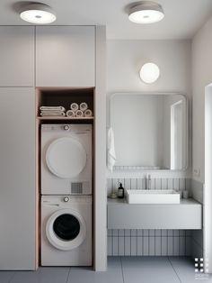bathroom grey and white tiles * bathroom grey and white - bathroom grey and white decor - bathroom grey and white colour schemes - bathroom grey and white tiles - bathroom grey and white modern - bathroom grey and white ideas Wc Bathroom, Laundry In Bathroom, Grey Bathrooms, Budget Bathroom, Modern Bathroom, Small Bathroom, Bathroom Ideas, Bathroom Vanities, Bathroom Designs